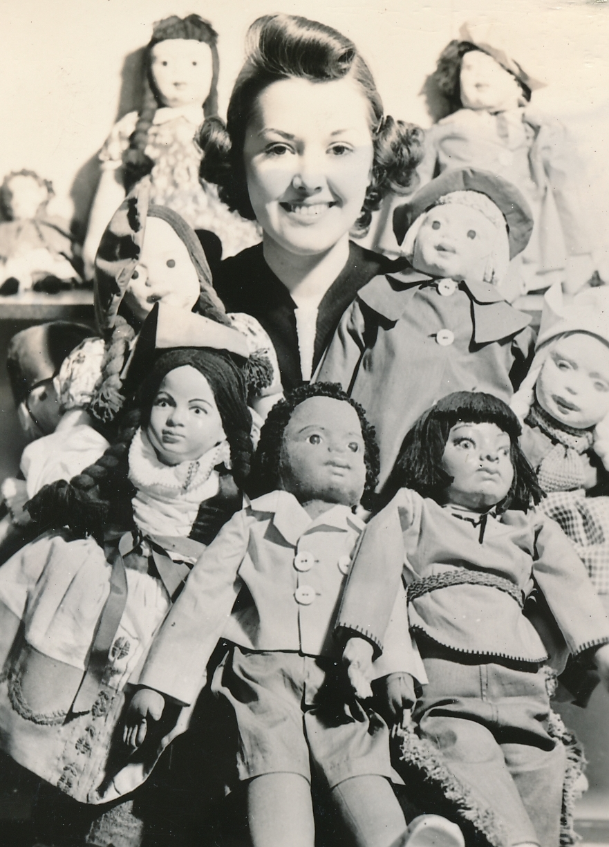 Toys made or repaired by WPA workers brings a smile in New York City. Photo courtesy of the National Archives (ca. 1935-1943).