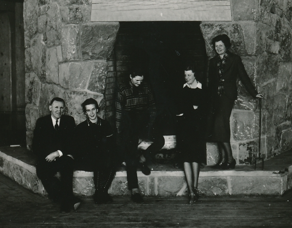 These vacationers seem pleased with the new, WPA-built Timberline Lodge on Mt. Hood, Oregon. Photo courtesy of the National Archives (ca. 1937-1938).