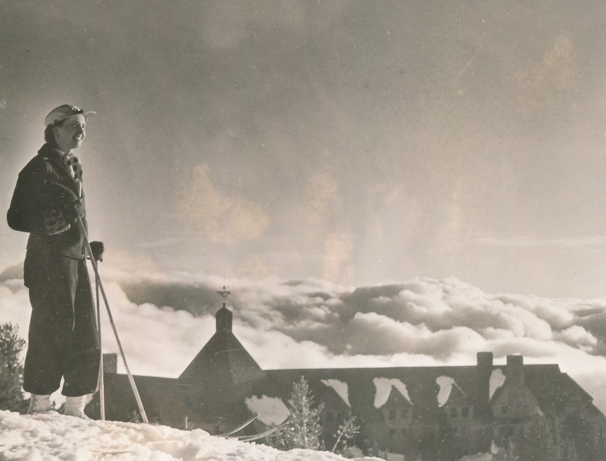 Skiing at the WPA-built Timberline Lodge, on Mt. Hood, Oregon, makes for a nice vacation. Photo courtesy of the National Archives (ca. 1937-1938).