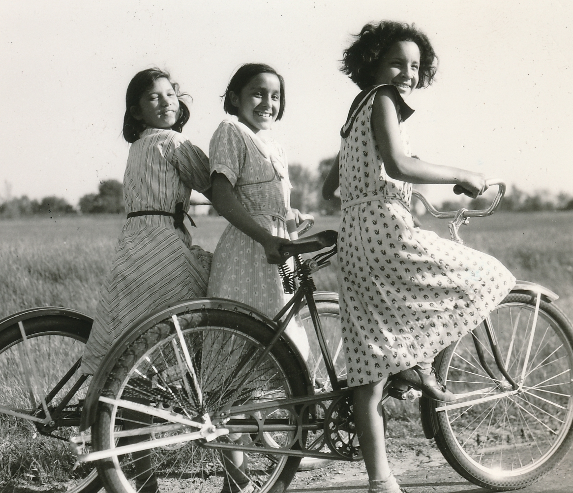 Near Buffalo, New York, these Seneca Indian girls enjoy a better quality of life during the Great Depression, thanks to WPA jobs for their fathers. Photo courtesy of the National Archives (1936).