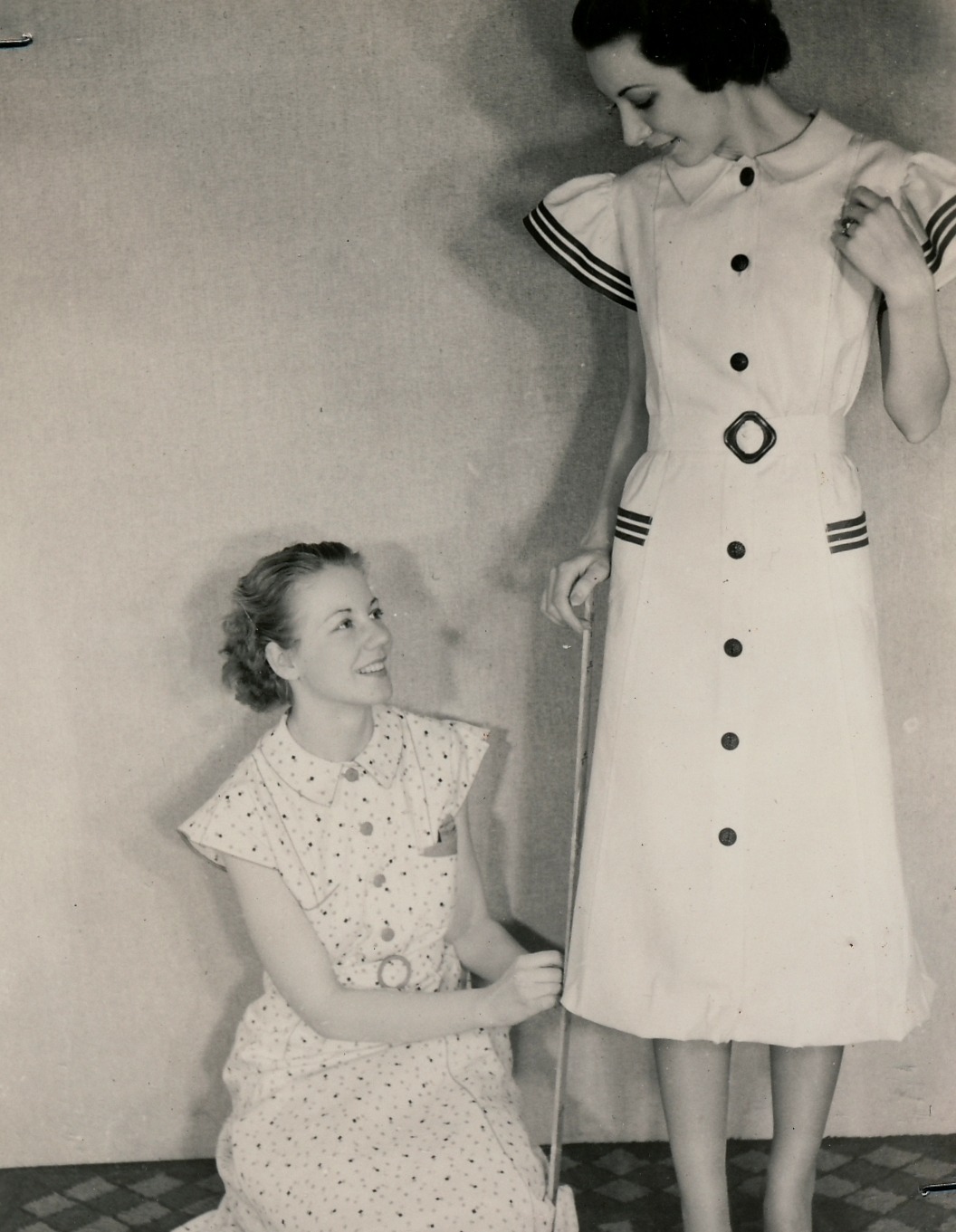 Modeling clothes made on a WPA sewing room project in Milwaukee. Photo courtesy of the National Archives (ca. 1935-1943).