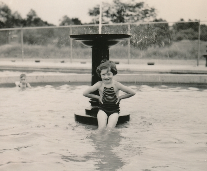 WPA-built swimming facilities are great places to cool during the summer. Photo courtesy of the National Archives (ca. 1935-1943).