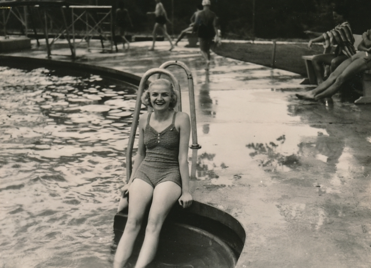A WPA-built swimming pool in Marysville, Ohio, is a great place for community recreation. Photo courtesy of the National Archives (ca. 1935-1943).