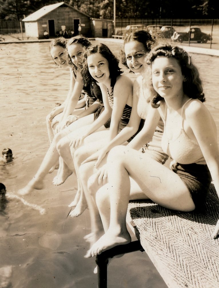 WPA-built swimming pools brought smiles to millions of Americans. These smiles are in Carbon Hill, Alabama. Photo courtesy of the National Archives (1937).