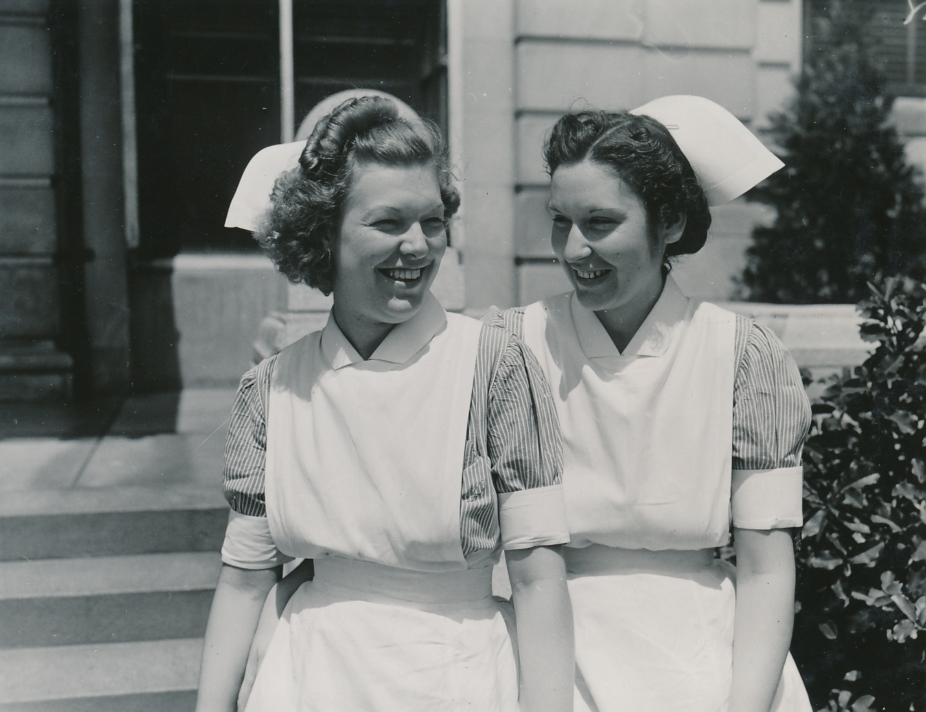 Student nurses, pleased with their new, PWA-built John Gaston Hospital in Memphis, Tennessee. Photo courtesy of the National Archives (ca. 1935-1940).