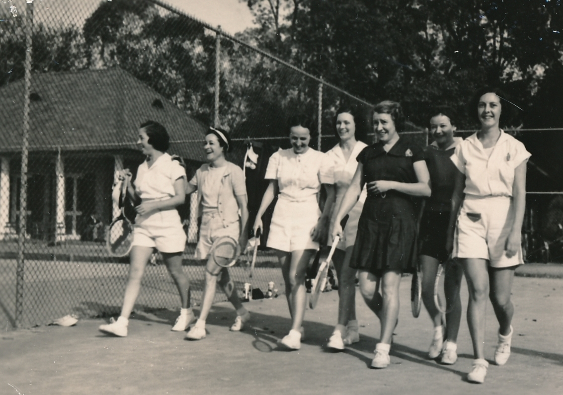 Enjoying WPA-built tennis courts in New Orleans. Photo courtesy of the National Archives (January 1939).