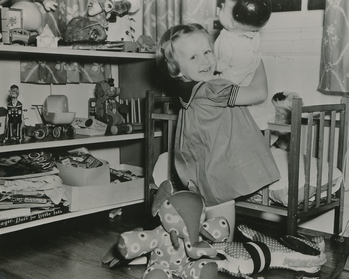 Kids and toys just go together, as this young lady shows at a WPA toy repair shop in New Orleans. Photo courtesy of the National Archives (ca. 1935-1943).
