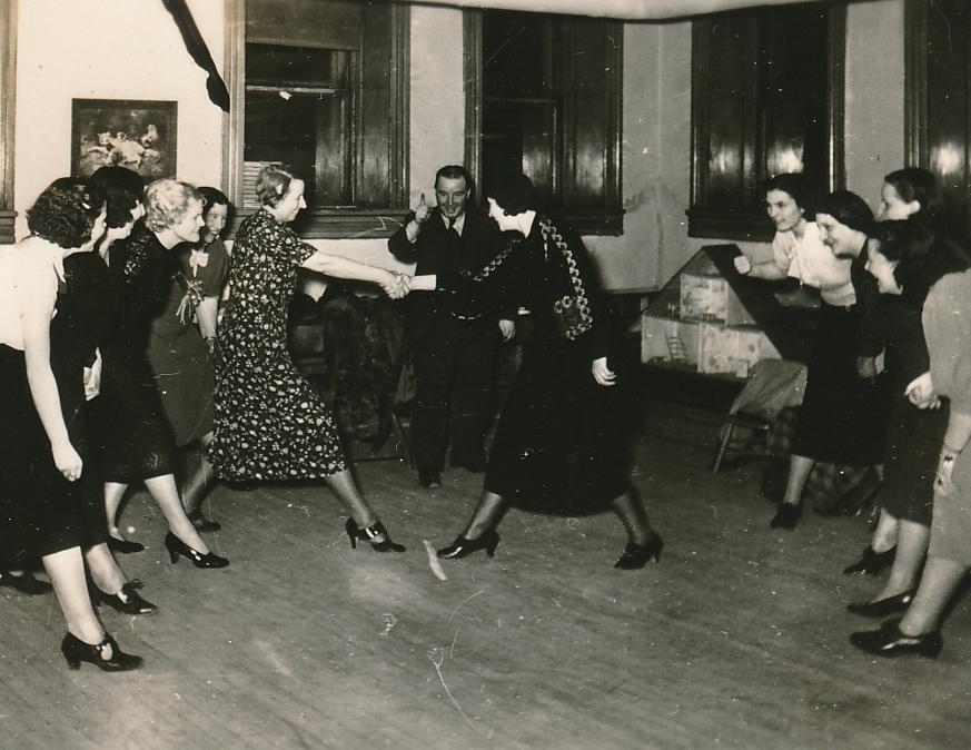 A WPA adult recreation project in Butte, Montana—folk dancing—brings out the inner kid. Photo courtesy of the National Archives (ca. 1935-1943).