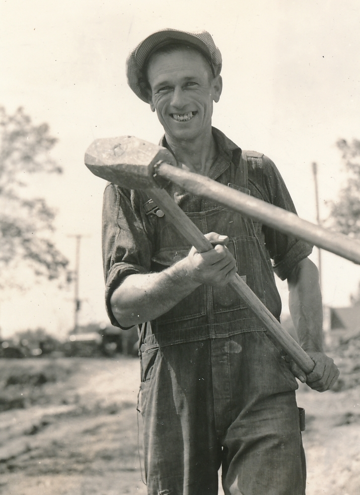 WPA job to build-up America sure beats handouts for this worker in Webb City, Missouri. Photo courtesy of the National Archives (September 1936).