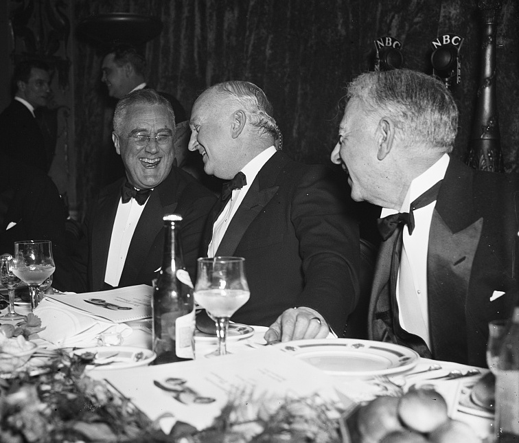 "In her book, ""The Roosevelt I Knew,"" U.S. Secretary of Labor Frances Perkins wrote, ""With few exceptions, even people who regarded themselves as Roosevelt haters felt agreeable toward him in his presence. They could not resist his contagious fondness for people - all kinds of people."" Photo courtesy of the Library of Congress (1937)."
