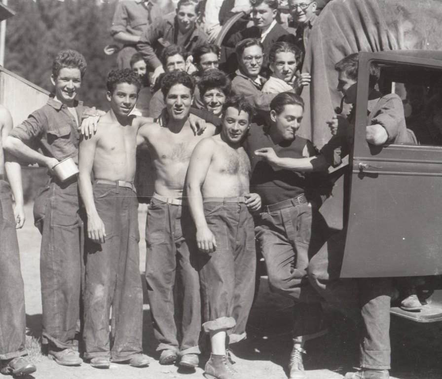 These young men are getting a reprieve from poverty and unemployment, in the CCC at St. Joe National Forest, Idaho. Photo courtesy of the National Archives (September 1933).