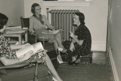 Students enjoying some free time in a newly-remodeled dormitory at the College of William and Mary, Richmond, Virginia. Photo courtesy of the National Archives (1937).