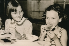 Great food during hard times brings a smile at a WPA-run health camp in Jacksonville, Florida. Photo courtesy of the National Archives (ca. 1935-1943).