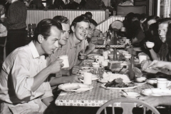 NYA workers having dinner together in San Diego. Employment, instead of the dole, seems to suit them just fine. Photo courtesy of the National Archives (ca. 1935-1943).