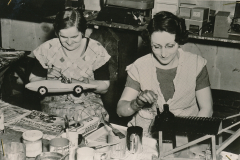 These WPA workers are refurbishing toys, to be distributed during Christmas time to underprivileged children in St. Paul, Minnesota. A job with a higher social purpose is a job worth smiling about. Photo courtesy of the National Archives (ca. 1935-1943).