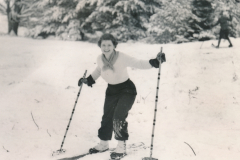 Winter doesn't have to be dreary… when you have a WPA-built ski area to play in. Photo taken in Bridgeton, Maine, and provided courtesy of the National Archives (ca. 1935-1943).