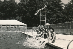 A warm summer day + a WPA-built swimming pool = happiness in Meridian, Mississippi. Photo courtesy of the National Archives (June 1938).
