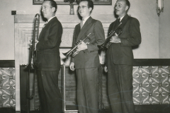 Musicians in Des Moines, Iowa, are happy to ply their trade in the WPA's Federal Music Project. Photo courtesy of the National Archives (July 1938).