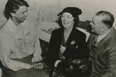 Eleanor Roosevelt and Ellen Woodward (head of the WPA's women's and professional division) share good times with Mississippi newspaperman Fred Sullen. Photo courtesy of the National Archives (ca. 1935-1943).