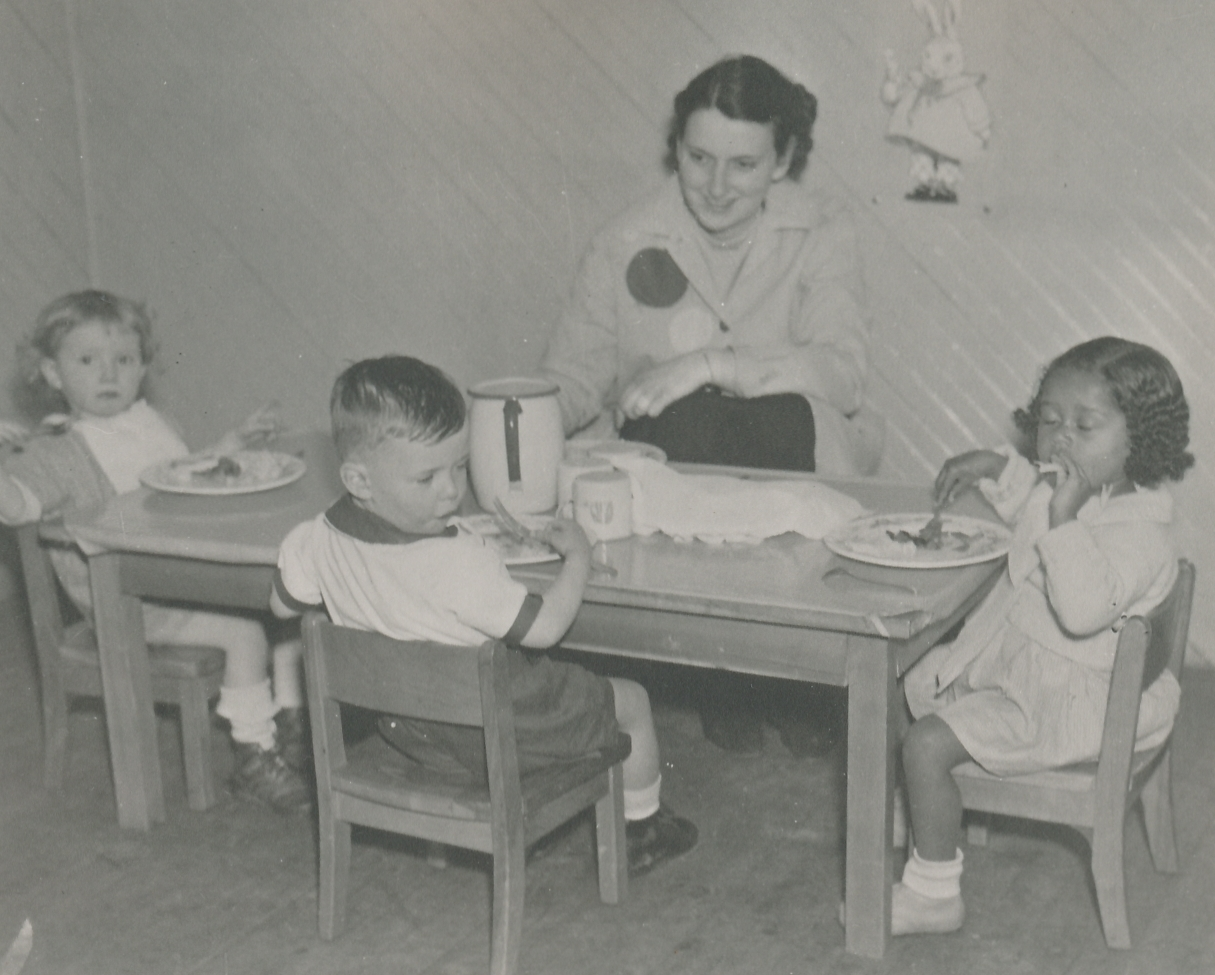 A nursery school in New York. Photo courtesy of the National Archives (ca. 1935-1943).