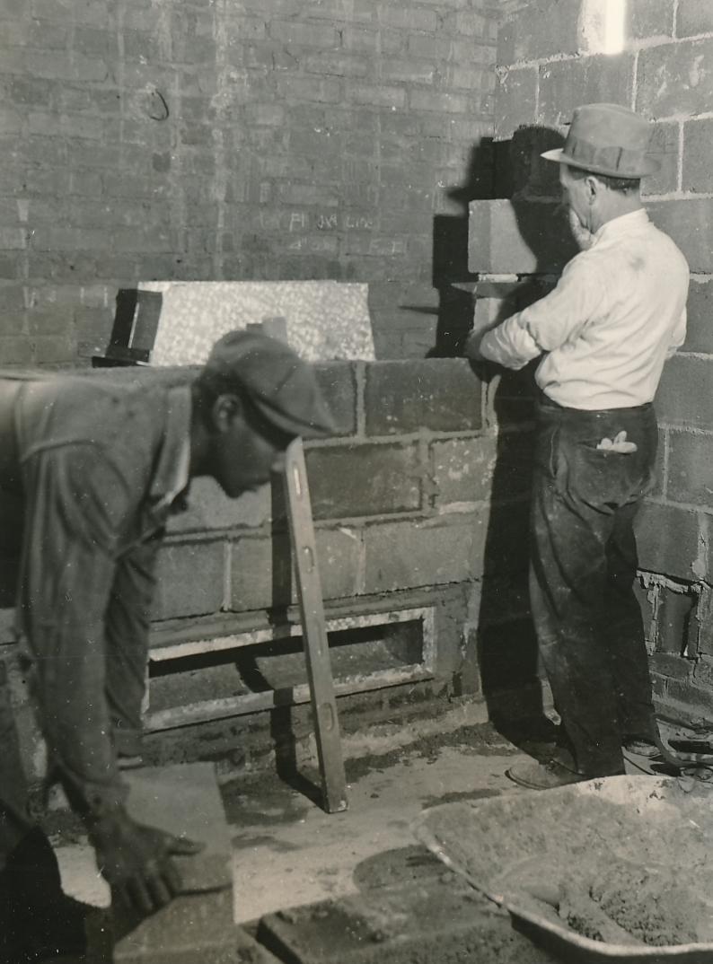 Creating the interior of the Philadelphia Museum of Art. Photo courtesy of the National Archives (1936).