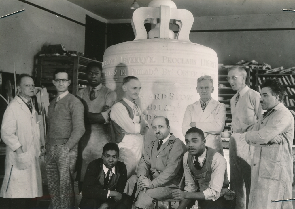 Another photo of the WPA and museum workers in Philadelphia. Photo courtesy of the National Archives (ca. 1939).
