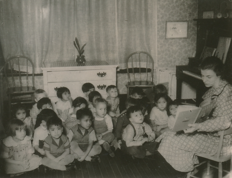 A WPA nursery school in St. Paul Minnesota. Photo courtesy of the National Archives (January 1936).
