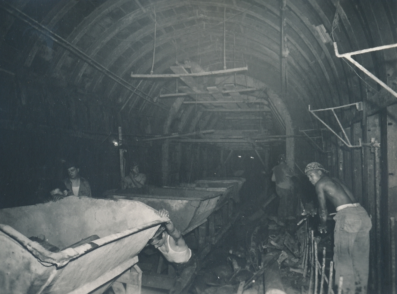 Another view of the PWA subway project in Chicago. Photo courtesy of the National Archives (June 1940).