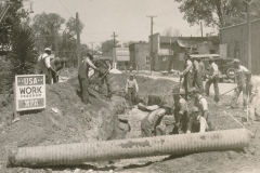 WPA workers improving Elm Street in Tuskegee, Alabama, April 1936. Photo courtesy of the National Archives.