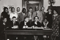 "The WPA's ""Negro Advisory Committee"" in Washington, DC, July 2, 1937. Photo courtesy of the National Archives."