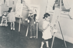 Children painting at WPA nursery school in California, ca. 1935-1943. Photo courtesy of the National Archives.