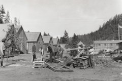 CCC boys building their camp at Shasta National Forest (California), October 6, 1933. Photo courtesy of the National Archives.