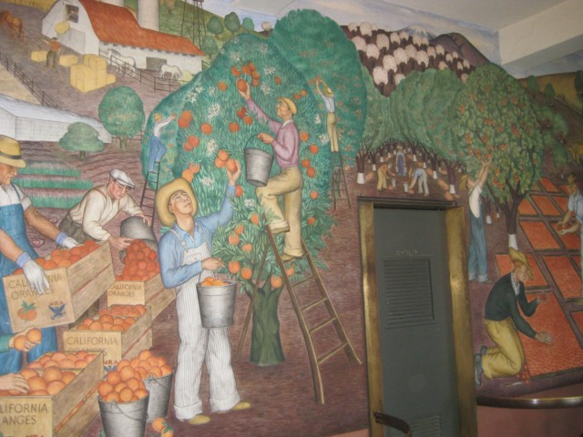 Coit tower albro mural san francisco ca living new deal for Coit tower mural artists