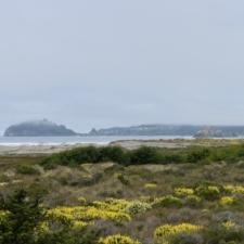 View toward Patrick's Point across Little River State Beach - McKinleyville CA