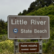 Entry sign to Little River State Beach - McKinleyville CA