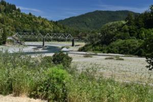 Site of former Dyerville CCC camp - Humboldt Redwoods State Park CA