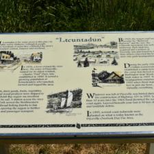 Historic marker at site of former Dyerville CCC camp - Humboldt Redwoods State Park CA