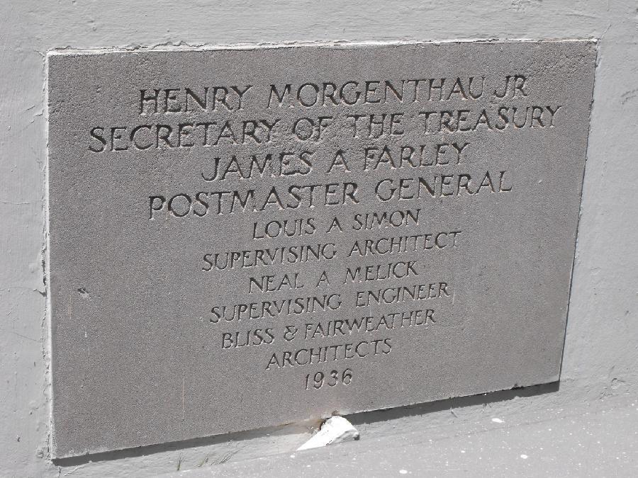 Hayward Post Office cornerstone