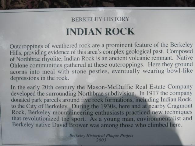 Indian Rock Park History