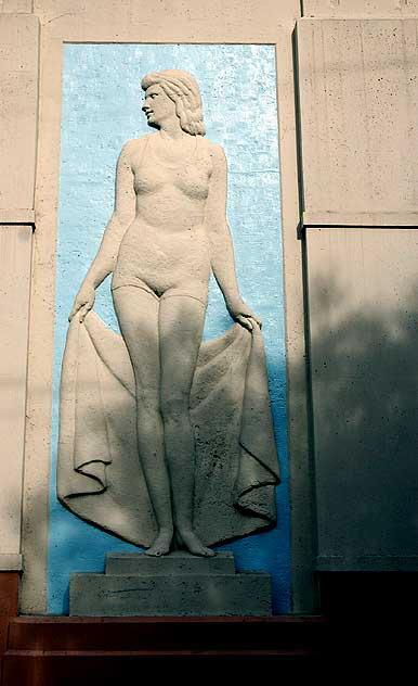 Urho Saari Swim Stadium, female swimmer
