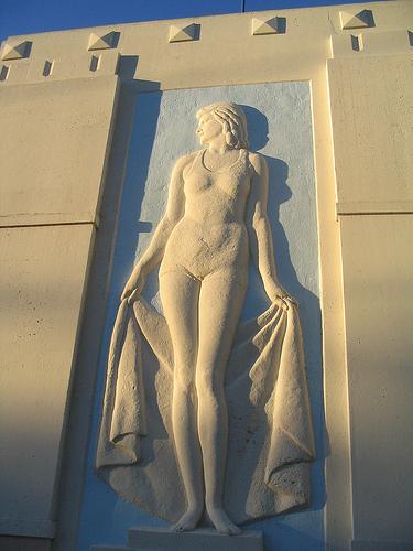 Urho Saari Swim Stadium, female swimmer - 4