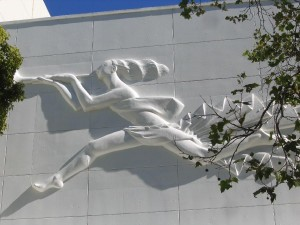 Berkeley High School Relief of the Goddess Cybele