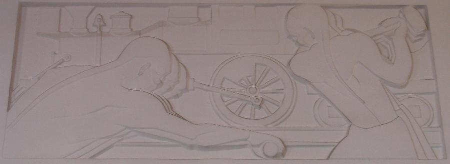 """Santa Barbara Post Office Relief """"Transportation of the Mail"""" 3"""