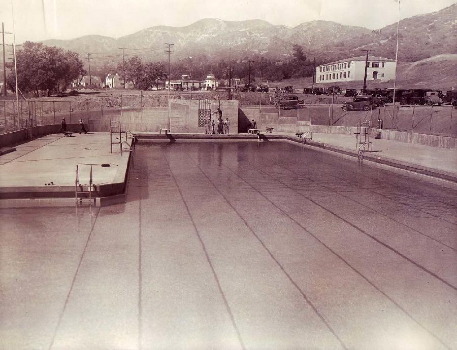 Verdugo Recreation Center (looking up to Glendale Community College Grounds)