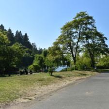 Main path along lake,Temescal Regional Park - Oakland CA