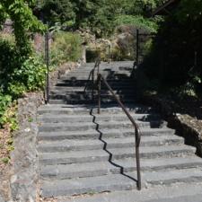 Stairway around beach house, Temescal Lake - Oakland CA