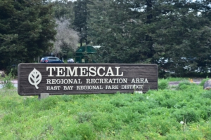 North entrance sign, Temescal Regional Park - Oakland CA