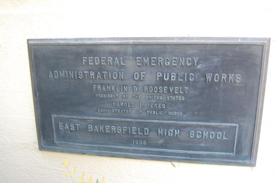 East Bakersfield High School Plaque