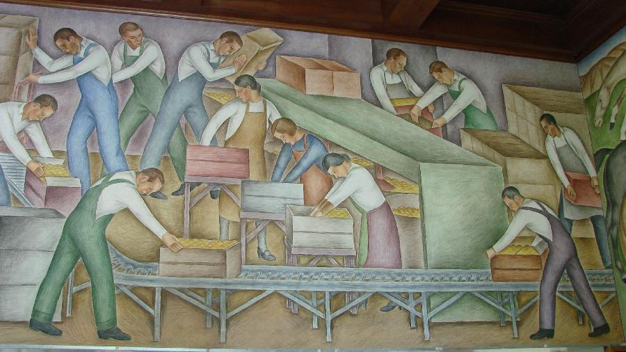 """Ventura Post Office """"Agriculture and Industry of Ventura"""" View 9"""