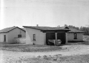 Warden's adobe residence and garage, 1935 (Engbeck 2002).